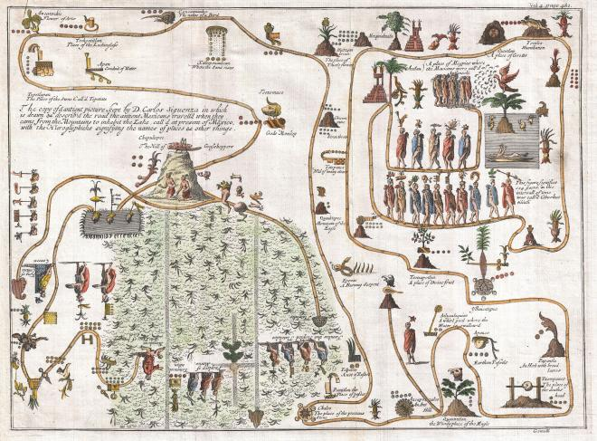 Map of Aztec migration